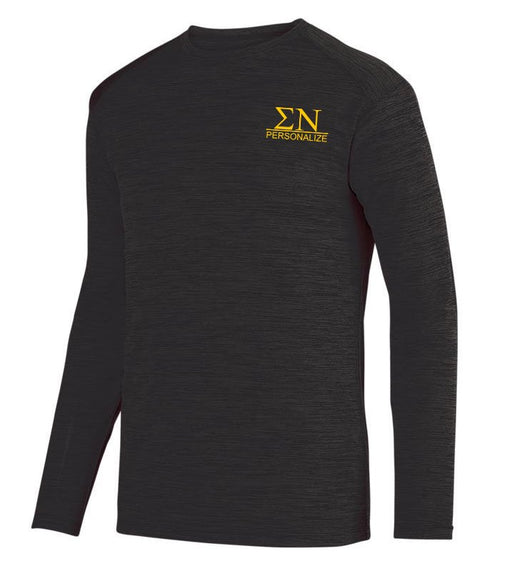 Sigma Nu $20 World Famous Dry Fit Tonal Long Sleeve Tee