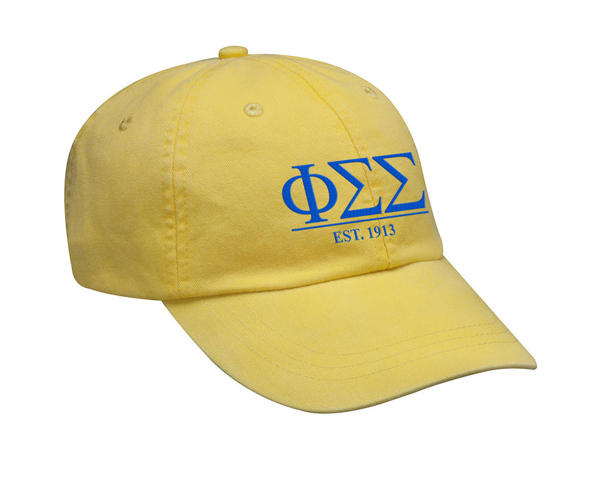 Phi Sigma Sigma Letters Year Embroidered Hat