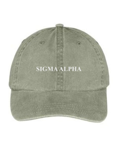 Sigma Alpha Embroidered Hat