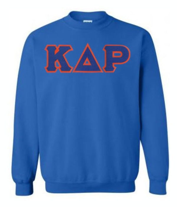 Kappa Delta Rho Crewneck Sweatshirt with Sewn-On Letters