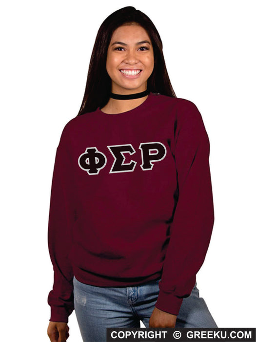 Phi Sigma Rho Classic Colors Sewn-On Letter Crewneck