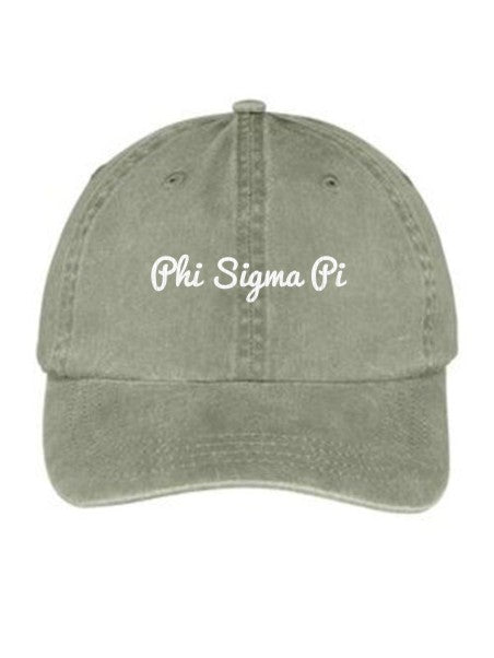 Phi Sigma Pi Nickname Embroidered Hat