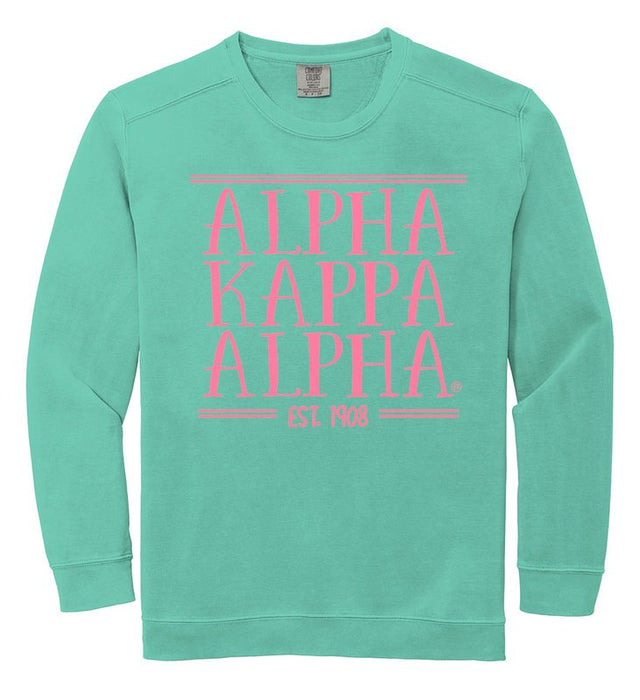 Alpha Kappa Alpha Comfort Colors Custom Sorority Sweatshirt