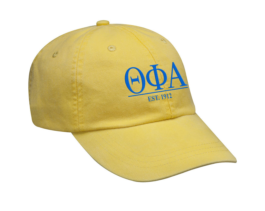 Theta Phi Alpha Letters Year Embroidered Hat