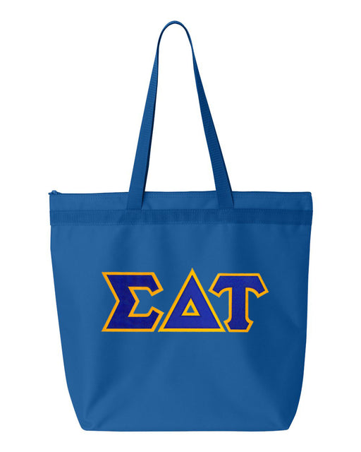 Sigma Delta Tau Greek Lettered Game Day Tote
