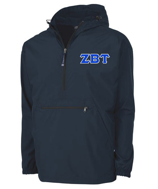 Zeta Beta Tau Embroidered Pack and Go Pullover