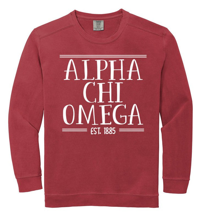 Alpha Chi Omega Comfort Colors Custom Sorority Sweatshirt