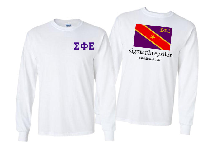 Sigma Phi Epsilon Long Sleeve Flag Tee
