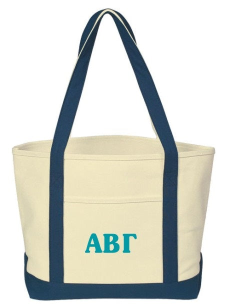 Sorority Cooper Letters Boat Tote