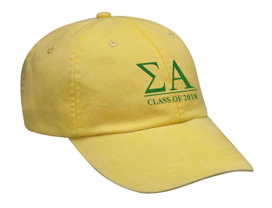 Sigma Alpha Embroidered Hat with Custom Text