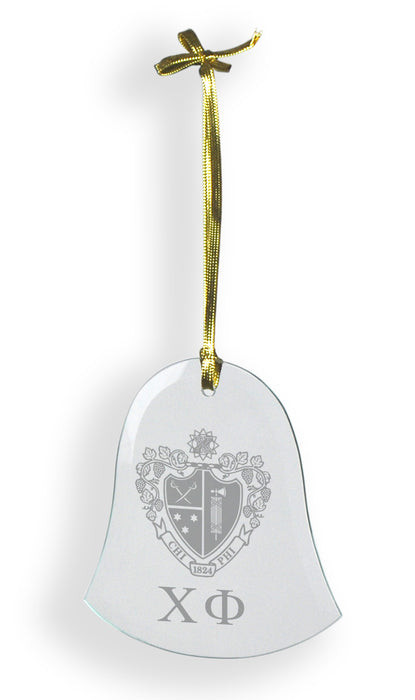Chi Phi Glass Bell Ornament