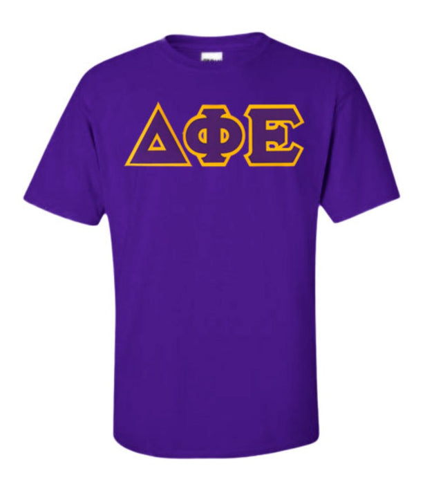 Delta Phi Epsilon Lettered T Shirt