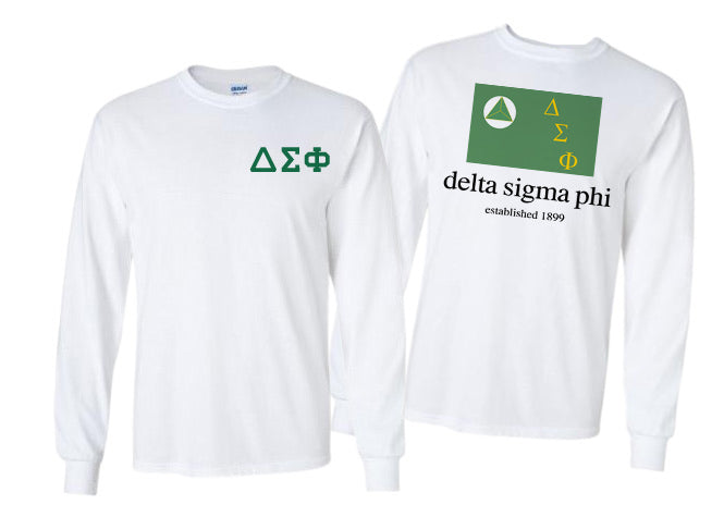 Delta Sigma Phi Long Sleeve Flag Tee