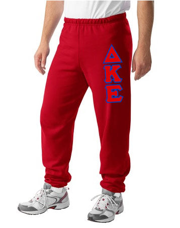 Delta Kappa Epsilon Sweatpants with Sewn-On Letters