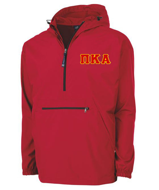 Pi Kappa Alpha Embroidered Pack and Go Pullover