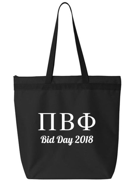 Pi Beta Phi Roman Letters Event Tote Bag