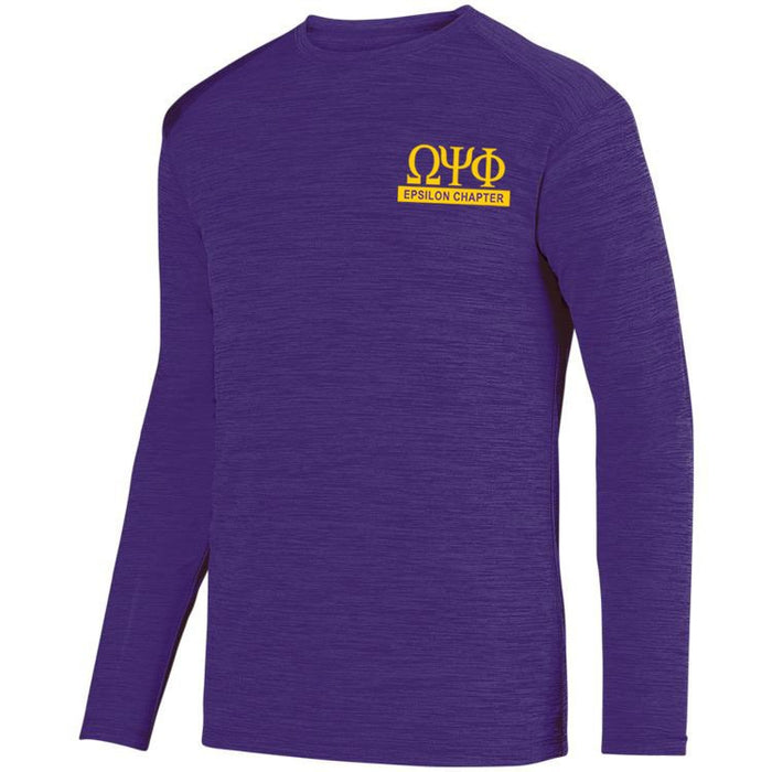 Omega Psi Phi $20 World Famous Dry Fit Tonal Long Sleeve Tee