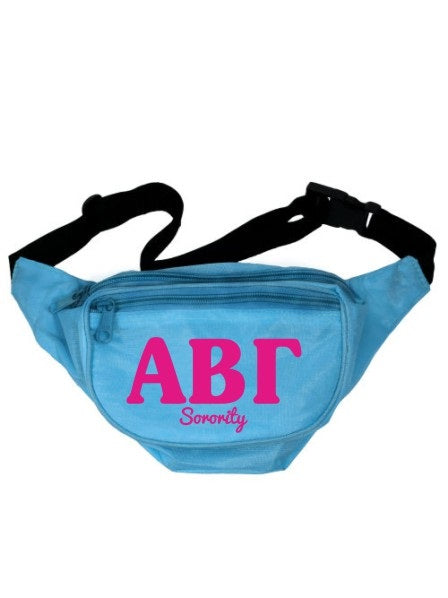 Sorority Letters Layered Fanny Pack