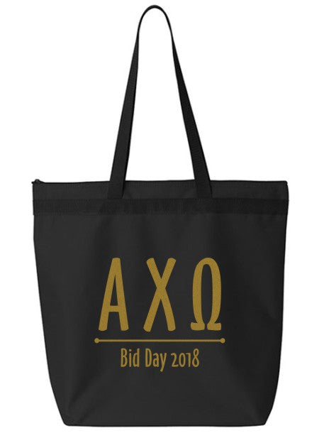 Alpha Chi Omega Oz Letters Event Tote Bag