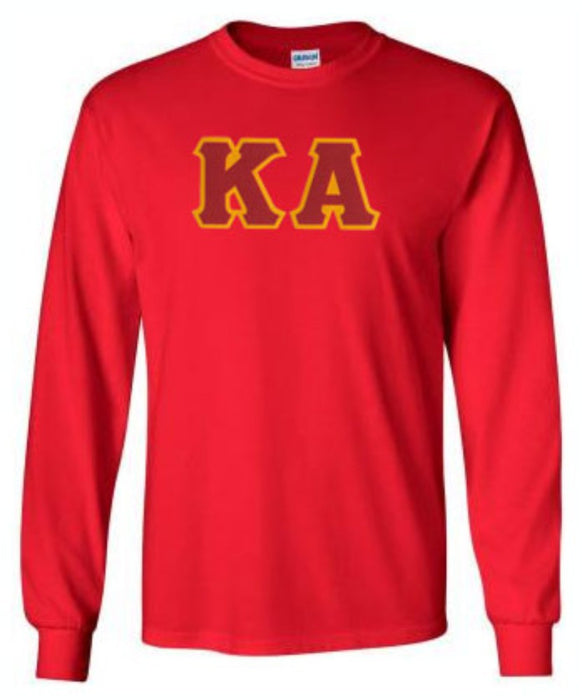 Kappa Alpha Long Sleeve Greek Lettered Tee