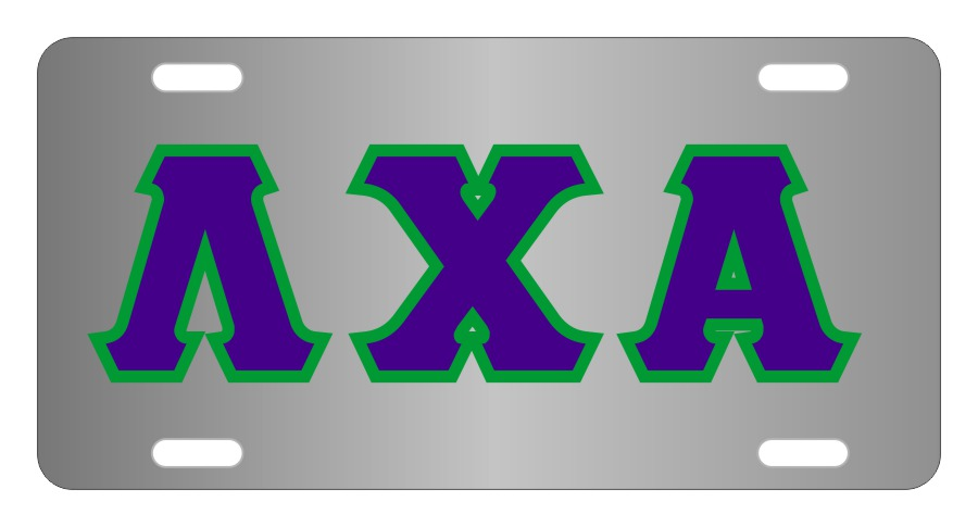 Lambda Chi Alpha Fraternity License Plate Cover