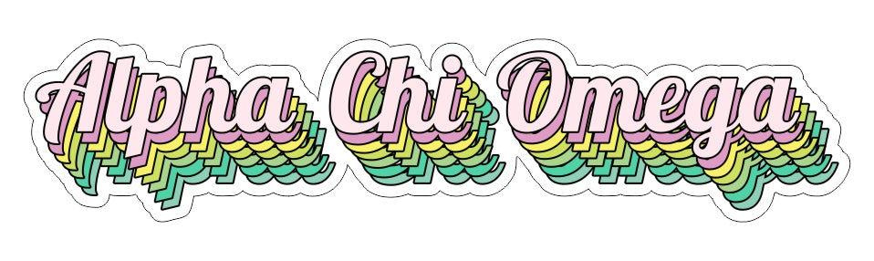Alpha Chi Omega New Hip Stepped Sticker