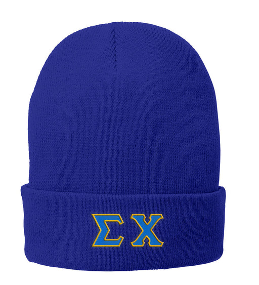 Sigma Chi Lettered Knit Cap