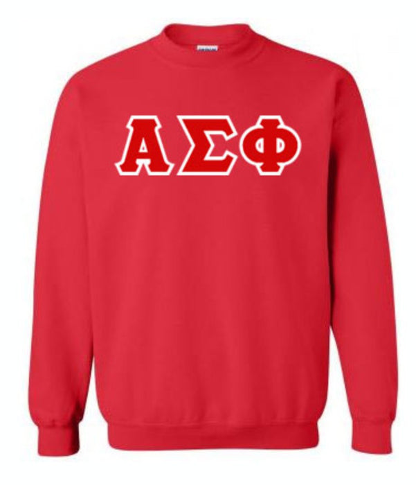 Alpha Sigma Phi Classic Colors Sewn-On Letter Crewneck