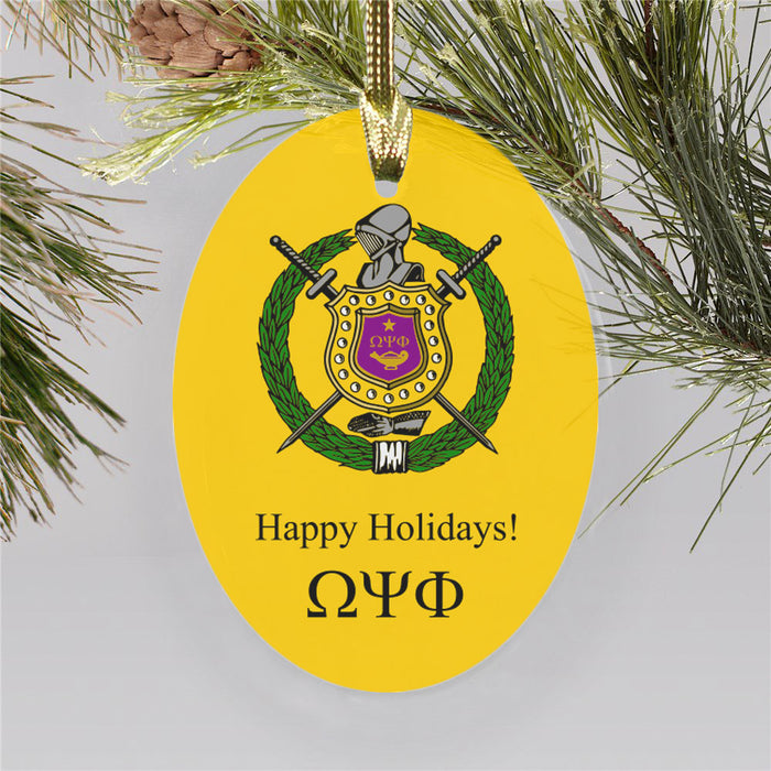 Omega Psi Phi Color Crest Ornament