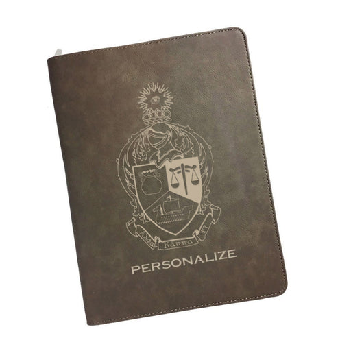 Alpha Kappa Psi Leatherette Portfolio with Notepad