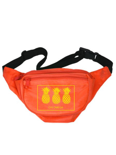 Chi Omega Three Pineapples Fanny Pack