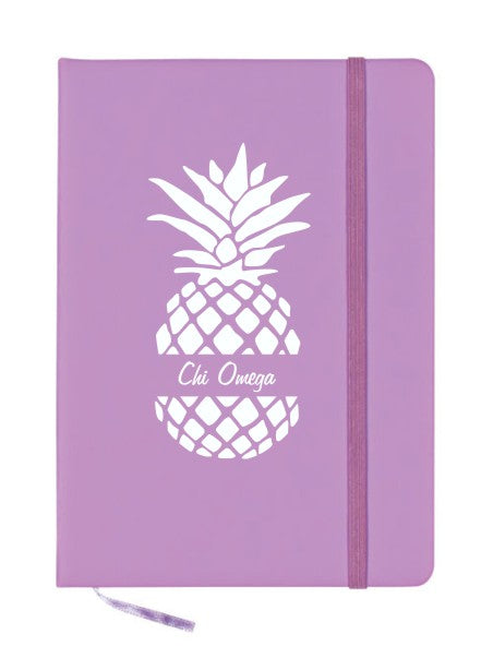 Chi Omega Pineapple Notebook