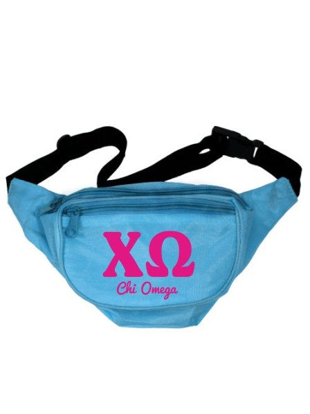 Chi Omega Letters Layered Fanny Pack