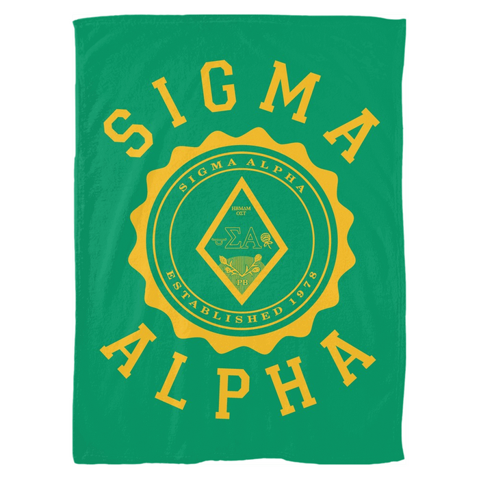 Sigma Alpha Seal Fleece Blankets Sigma Alpha Seal Fleece Blankets