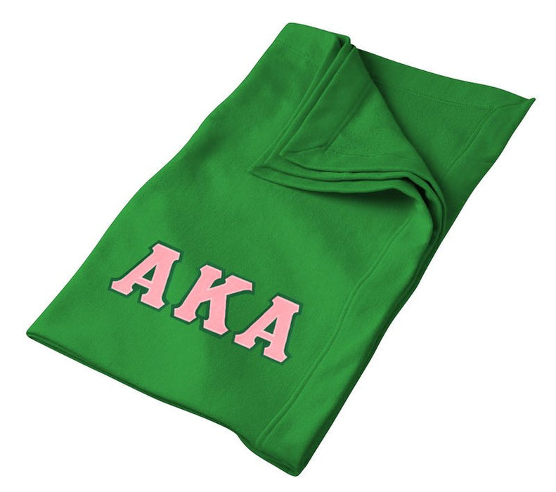Alpha Kappa Alpha Greek Twill Lettered Sweatshirt Blanket