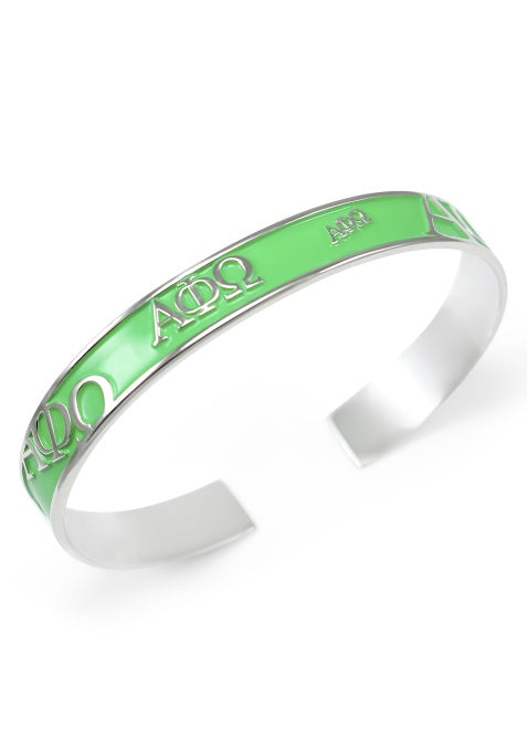 Alpha Phi Omega Bangle Bracelet