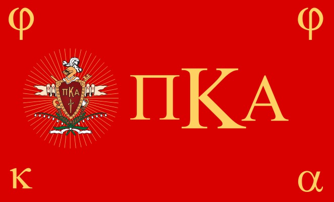 Pi Kappa Alpha Fraternity Flag Sticker