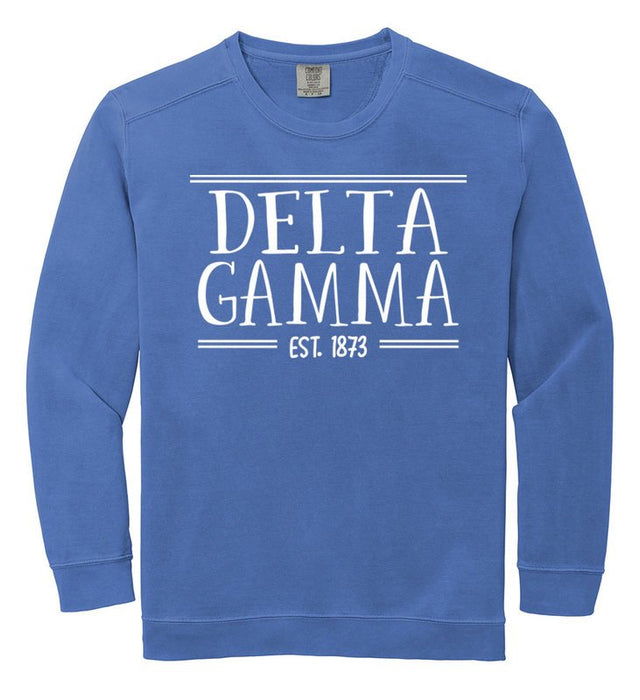 Delta Gamma Comfort Colors Custom Sorority Sweatshirt