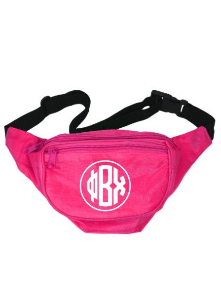 Phi Beta Chi Monogram Fanny Pack