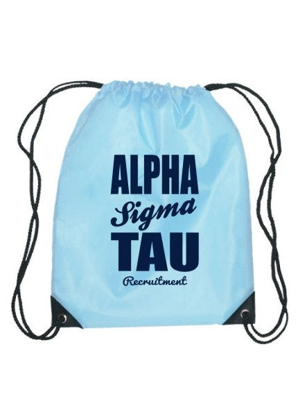 Alpha Sigma Tau Cursive Impact Sports Bag
