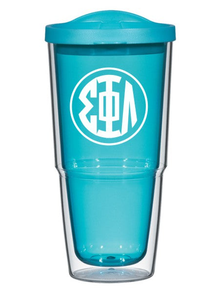 Sigma Phi Lambda Circle Arrows 24 oz Tumbler with Lid
