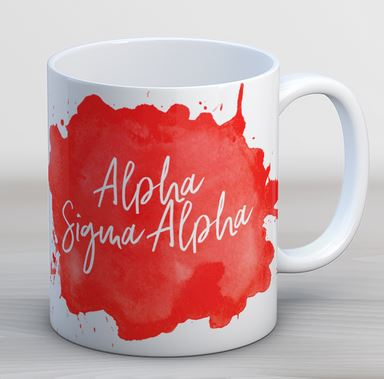 Alpha Sigma Alpha Watercolor Script Coffee Mug