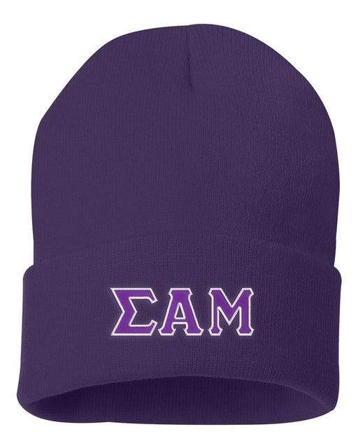 Sigma Alpha Mu Lettered Knit Cap