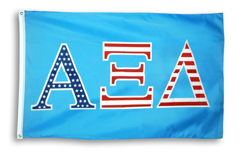 Alpha Xi Delta Patriotic Flag