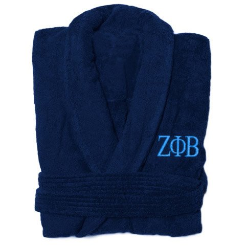 Zeta Phi Beta Greek Letter Bathrobe