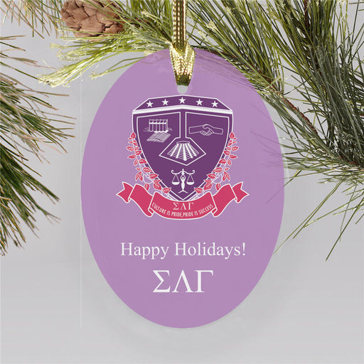 Sigma Lambda Gamma Color Crest Ornament