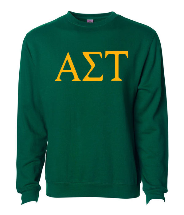Alpha Sigma Tau World Famous Lettered Crewneck Sweatshirt