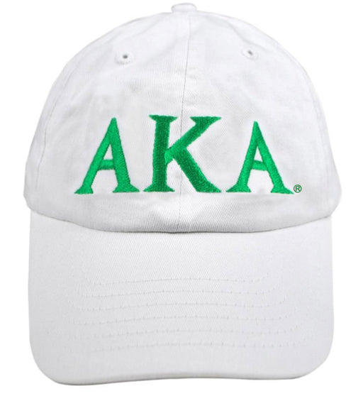 Alpha Kappa Alpha Greek Letter Embroidered Hat