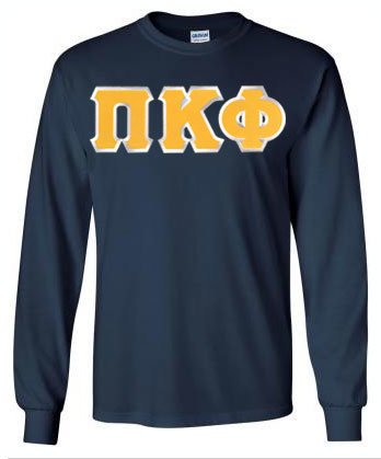 Pi Kappa Phi Long Sleeve Greek Lettered Tee