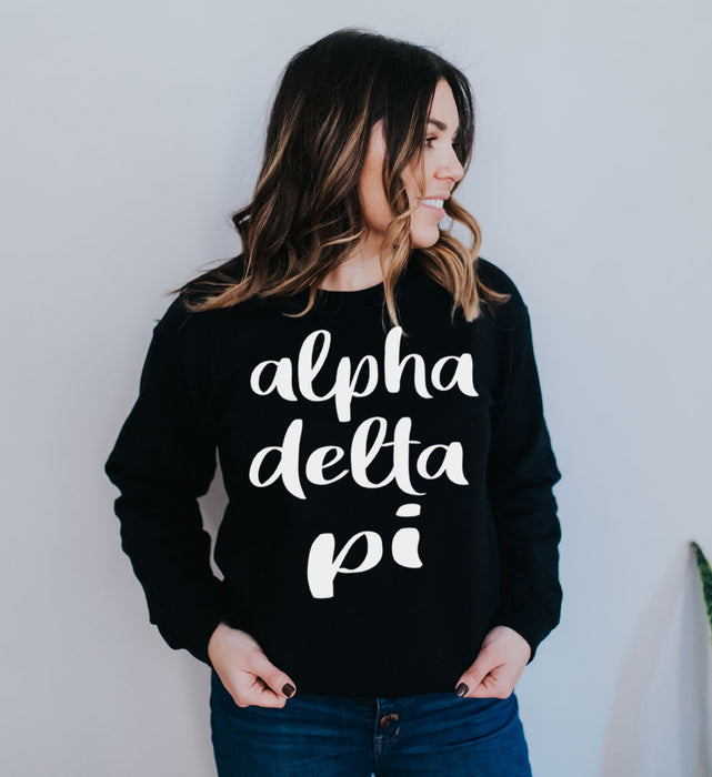 Alpha Delta Pi Superscript Crewneck Sweatshirt